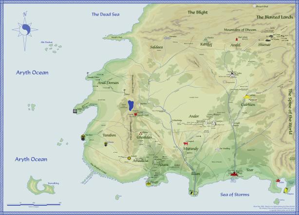 Si no us voleu quedar cecs intentant llegir el mapa de la Roda del Temps, millor feu clic per ampliar-lo