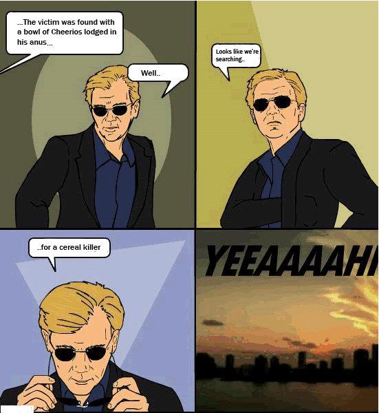 A CSI Las Vegas ningú diu frases lapidàries al estil Horatio.