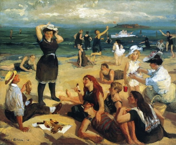South_Beach_Bathers_1907-8_John_Sloan