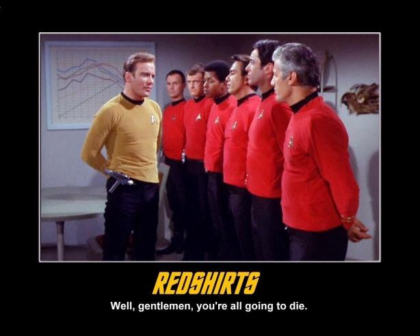 redshirts going to die