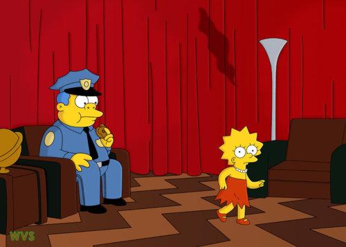 Saps que es tracta d'una sèrie mítica quan apareix homenatjada en els Simpsons