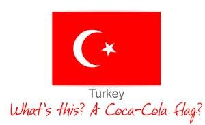 Coca-cola ha envermellit dos conceptes turcs: La bandera del país i Santa Claus