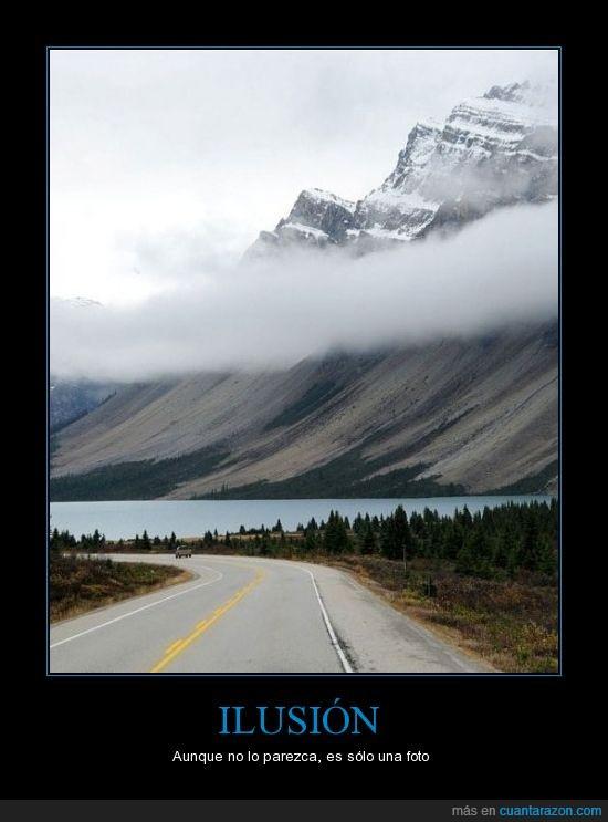 humor,carretera,una foto,montaña