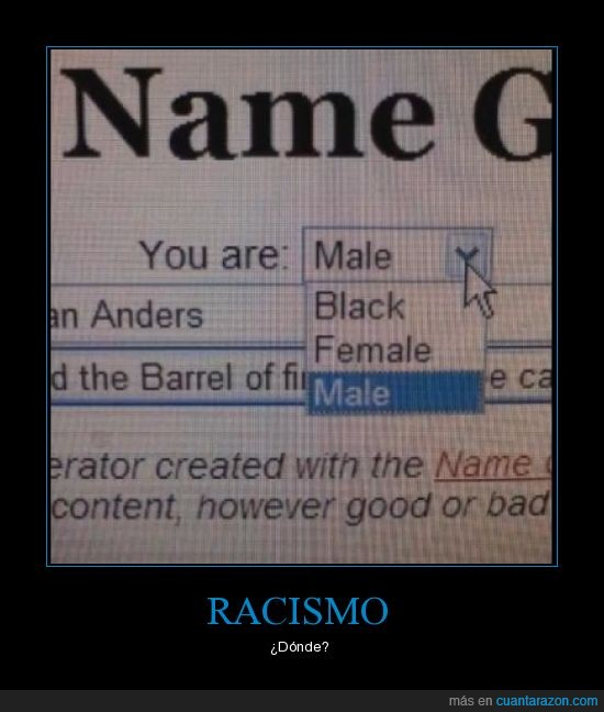 humor,Racismo,female,black,male