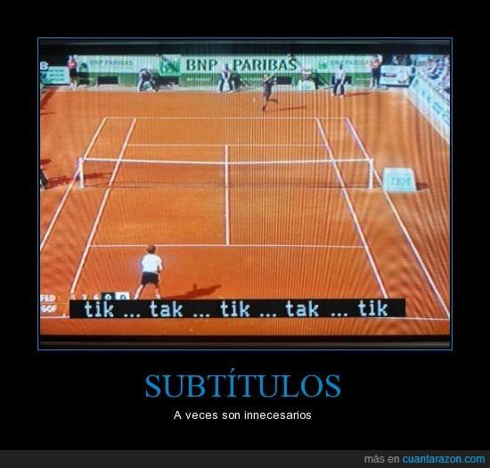 humor,subtitulos,television,tennis