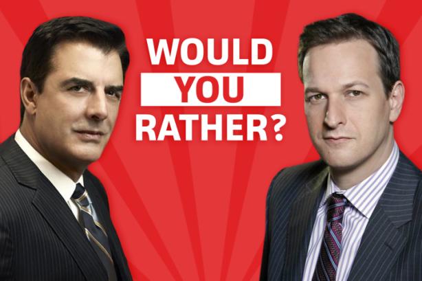 Si fóssiu l'Alicia amb qui us quedaríeu? Amb Peter Florrick o amb Will Gardner?
