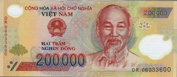 Aquest bitllet de 200.000 Dongs vietnamites servirà per il•lustrar la celebració de les 200.000 visites al blog. Si teniu curiositat, al canvi actual serien tan sols 8,10€ euros.
